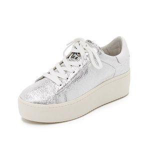 FINAL.NEW Ash Metallic Platform Sneakers